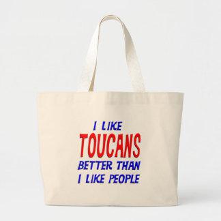 I Like Toucans Better Than I Like People Tote Bag