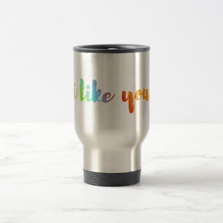 'i like you' quote valentines day cup mug flask