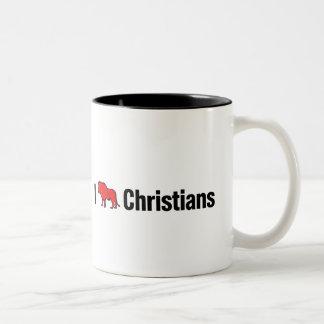 I Lion Christians Two-Tone Coffee Mug