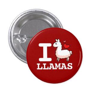 I Llama Llamas 3 Cm Round Badge