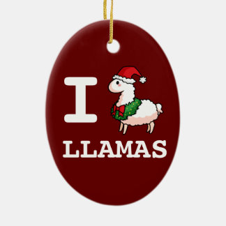 I Llama Llamas Christmas Tree Ornament
