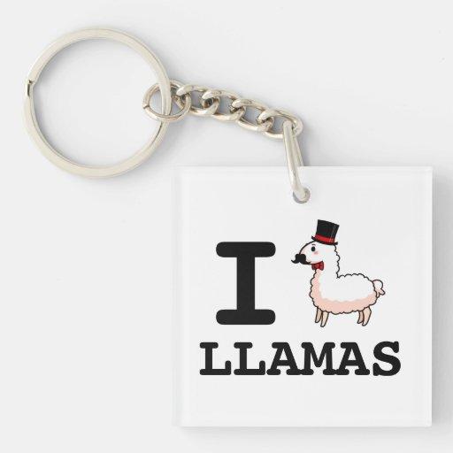 I Llama Llamas Keychain