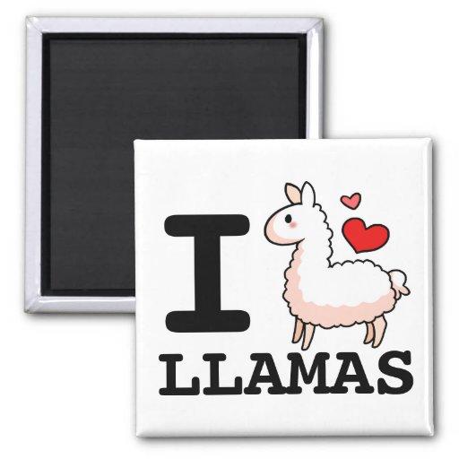 I Llama Llamas Fridge Magnets