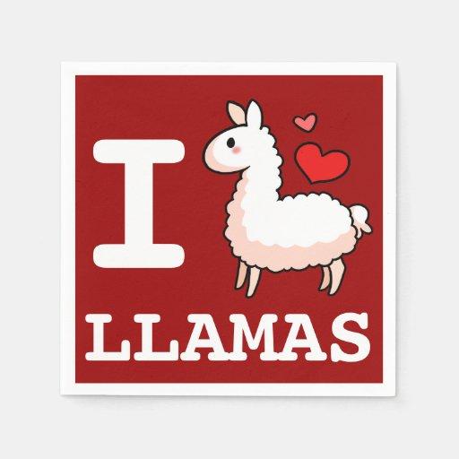 I Llama Llamas Disposable Napkins