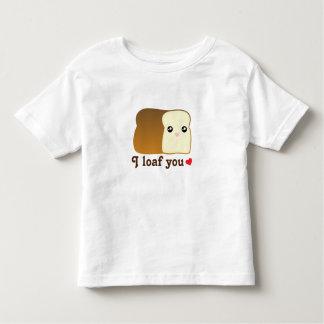 I Loaf You Cute Kawaii Bread Cartoon Unisex Baby Toddler T-Shirt