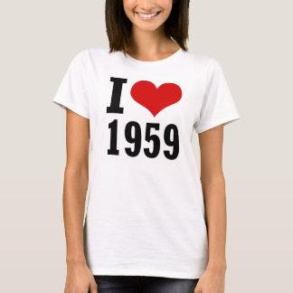 I Love 1959 Mini T-Shirt