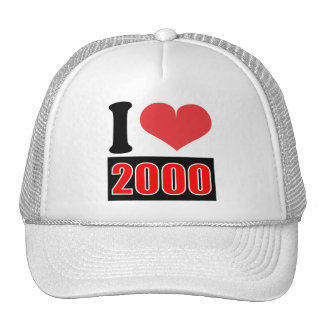 I love 2000    - Hat