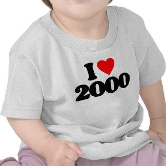I LOVE 2000 T-SHIRT