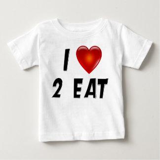 I Love 2 Eat Baby T-Shirt