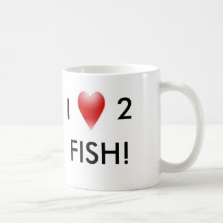 I LOVE 2 FISH COFFEE MUGS