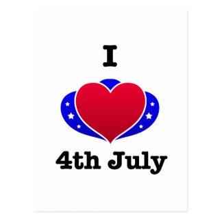 I love 4th of July! Postcard
