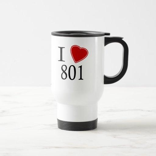 I Love 801 Salt Lake City Mug