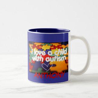 i love a child w autism, ANTHONY Two-Tone Coffee Mug