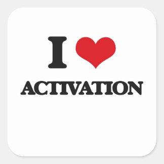 I Love Activation Square Sticker