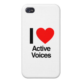 i love active voices iPhone 4/4S case