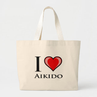 I Love Aikido Large Tote Bag