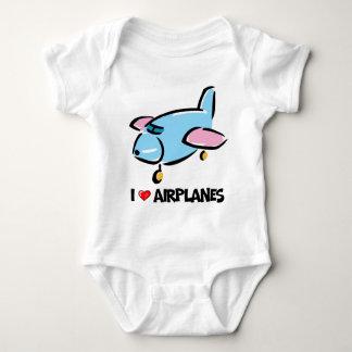 I Love Airplanes Baby Bodysuit