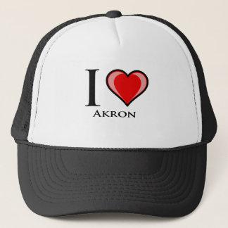 I Love Akron Trucker Hat