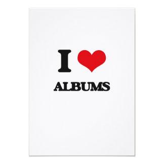 I Love Albums Invitation Card