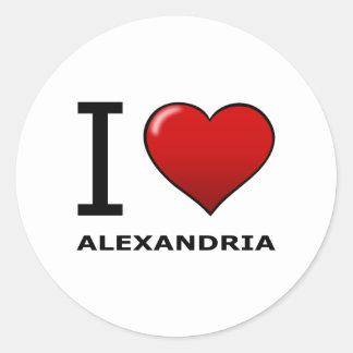 I LOVE ALEXANDRIA,VA - VIRGINIA CLASSIC ROUND STICKER