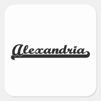 I love Alexandria Virginia Classic Design Square Sticker
