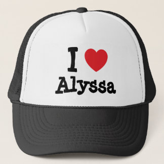 I love Alyssa heart T-Shirt Trucker Hat