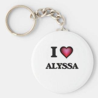 I Love Alyssa Key Ring