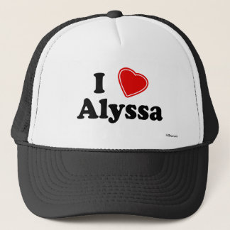 I Love Alyssa Trucker Hat