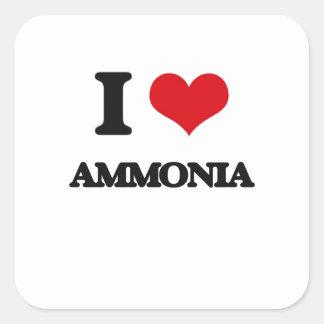 I Love Ammonia Square Sticker