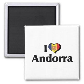 I Love Andorra Flag Magnet