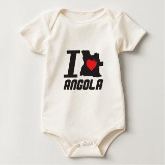 i love Angola Baby Bodysuit