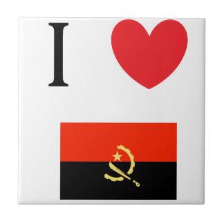 I Love Angola! Small Square Tile