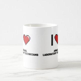 I love Animal Laboratory Technicians Classic White Coffee Mug