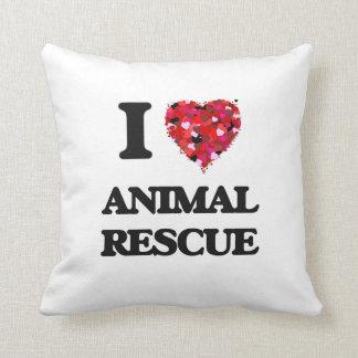 I Love Animal Rescue Cushion