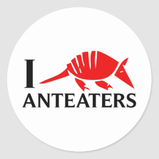 I Love Anteaters Classic Round Sticker