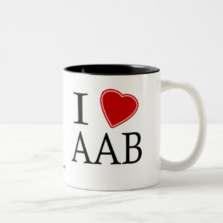 I Love Antigua and Barbuda Two-Tone Coffee Mug