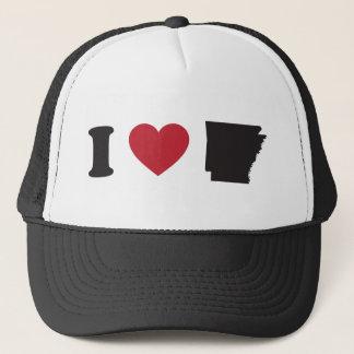 I Love Arkansas Trucker Hat