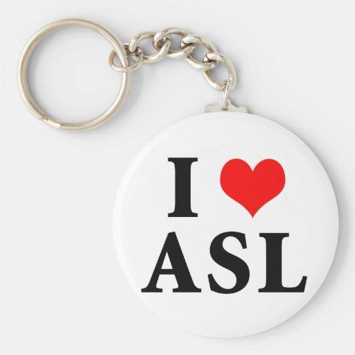 I Love ASL Keychains