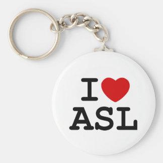 I Love ASL Key Chains