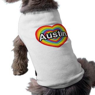 I love Austin, rainbow heart Shirt