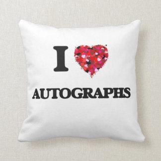 I Love Autographs Cushions