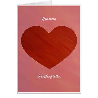 I Love Bacon Valentine Card