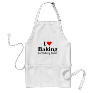 I love baking battenberg cakes standard apron