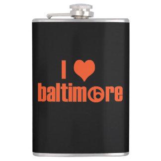 I Love Baltimore Hip Flask