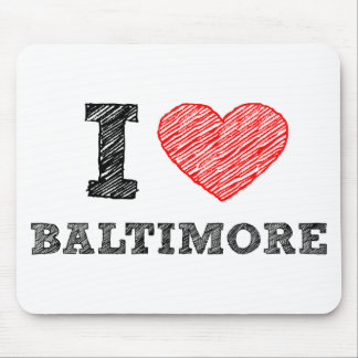 I-Love-Baltimore Mouse Pad