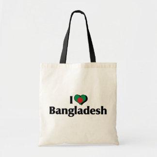 I Love Bangladesh Flag Tote Bag