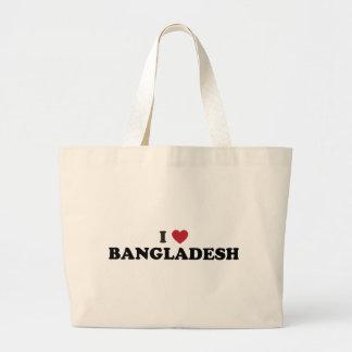 I Love Bangladesh Large Tote Bag