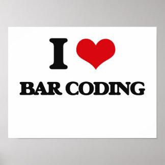 I Love Bar Coding Posters