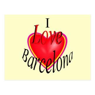 I Love Barcelona! Postcard