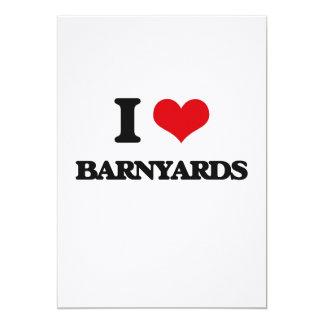 I Love Barnyards Cards